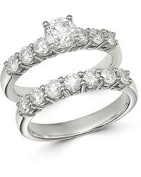 Bloomingdale's Diamond Engagement Ring Set In 14k White Gold