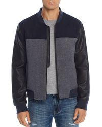 Blank NYC - Mixed-media Color-block Bomber Jacket - Lyst