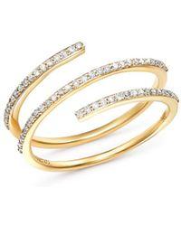 Mateo - 14k Yellow Gold Spiral Diamond Ring - Lyst