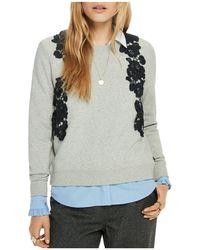 Scotch & Soda | Lace-appliqué Sweatshirt | Lyst