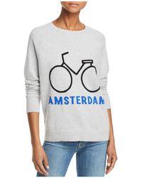 Aqua - Amsterdam Bike Cashmere Sweater - Lyst