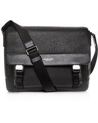 Michael Kors - Greyson Pebbled Leather Messenger Bag - Lyst