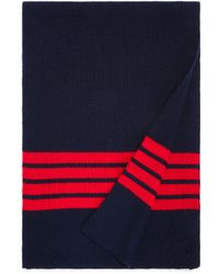 Bloomingdale's - Stripe-accented Rib-knit Scarf - Lyst