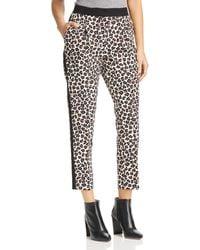 Marella - Rosone Cropped Leopard Tuxedo Trousers - Lyst