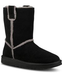 2c57464d470 UGG - Women s Classic Round Toe Sheepskin Short Booties - Lyst