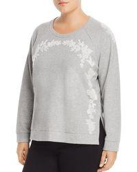 Lucky Brand - Embroidered Cotton Sweatshirt - Lyst