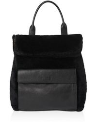Whistles - Verity Shearling Backpack - Lyst
