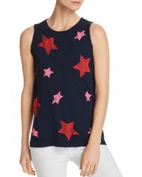Current/Elliott - The Easy Star Print Muscle Tank - Lyst