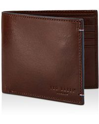 55165d644774 Ted Baker - Cechic Contrast - Stitch Leather Bifold Wallet - Lyst