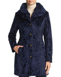 Laundry by Shelli Segal - Reversible Faux Shearling & Quilted Coat - Lyst
