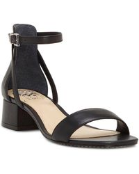 Vince Camuto - Women's Shetana Leather Ankle Strap Sandals - Lyst