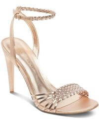 Ivanka Trump - Women's Holie Woven Leather Sandals - Lyst