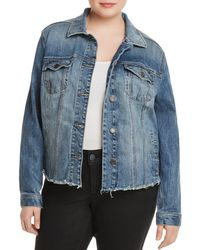 Lucky Brand - Frayed-hem Denim Jacket - Lyst
