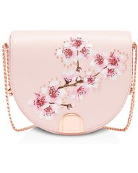Ted Baker - Susy Soft Blossom Leather Moon Bag - Lyst