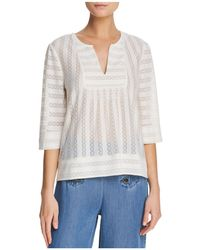 Ella Moss - Lilly Lace-inset Top - Lyst
