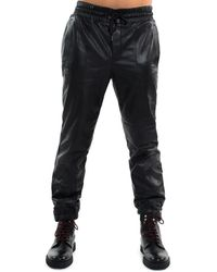 Sean John - Leather Track Trousers - Lyst