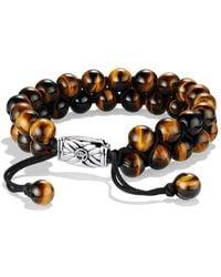 David Yurman | Spiritual Beads Two-row Bracelet With Tiger's Eye | Lyst