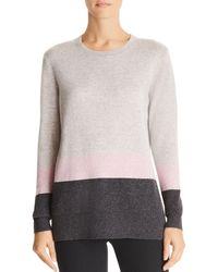 C By Bloomingdale's - Color-block Cashmere Jumper - Lyst
