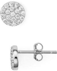 Aqua - Pavé Cluster Round Stud Earrings - Lyst