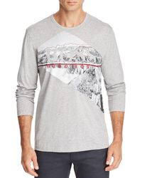 BOSS - Togn Long-sleeve Mountain Graphic Tee - Lyst