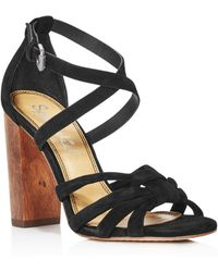 Splendid - Women's Faris Suede Strappy Block Heel Sandals - Lyst