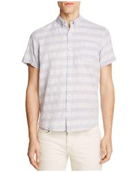 Oxford Lads - Woven Stripe Regular Fit Button-down Shirt - Lyst