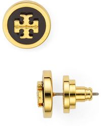 Tory Burch - Raised Logo Stud Earrings - Lyst
