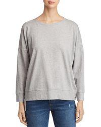 Eileen Fisher - Speckled Knit Step Hem Sweatshirt - Lyst