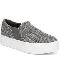 Vince - Warren Linen Platform Skate Sneakers - Lyst