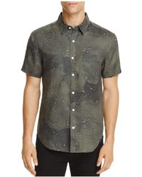 7 For All Mankind - Camo Print Regular Fit Button-down Shirt - Lyst