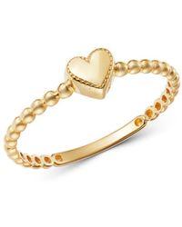 Moon & Meadow - 14k Yellow Gold Heart Ring - Lyst
