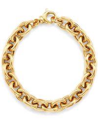 Bloomingdale's - Interlocking Chain Bracelet In 14k Yellow Gold - Lyst