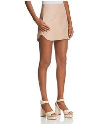 Karina Grimaldi - Jacob Leather Mini Skirt - Lyst