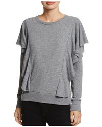 Nation Ltd | Senna Ruffled Sweatshirt | Lyst