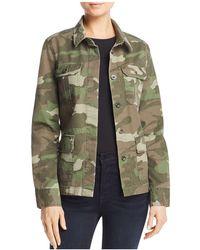Aqua - Camo Army Jacket - Lyst