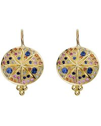 Temple St. Clair - 18k Yellow Gold Pavé Sorcerer Earrings - Lyst