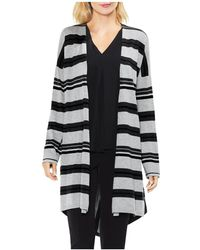 Vince Camuto - Striped Duster Cardigan - Lyst