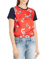 Ralph Lauren - Lauren Mixed Media Tee - Lyst