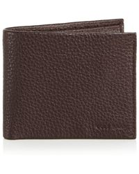 Cole Haan - Brayton Pebbled Leather Billfold Wallet - Lyst