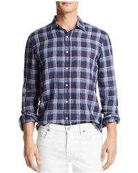 Bloomingdale's - Yarn Dye Linen Long Sleeve Button-down Shirt - Lyst