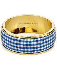 Kate Spade - Striped Bangle Bracelet - Lyst