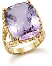 Bloomingdale's - Lavender Amethyst Rectangular Statement Ring In 14k Yellow Gold - Lyst