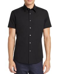 Theory - Sylvain Wealth Short Sleeve Slim Fit Button-down Shirt - Lyst