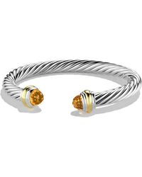 David Yurman - Cable Classics Bracelet With Citrine And Gold - Lyst