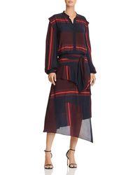 Joie - Roz Striped Midi Dress - Lyst