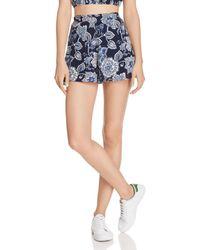 Aqua - Floral Paisley Print Shorts - Lyst