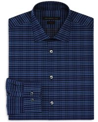John Varvatos | Check Slim Fit Stretch Dress Shirt | Lyst