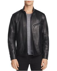 Andrew Marc - Gibson Leather Moto Jacket - Lyst