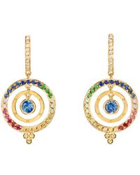 Temple St. Clair - 18k Yellow Gold Celestial Piccolo Tolomeo Diamond & Rainbow Gemstone Earrings - Lyst