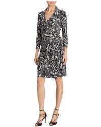 Ralph Lauren | Lauren Printed Jersey Wrap Dress | Lyst